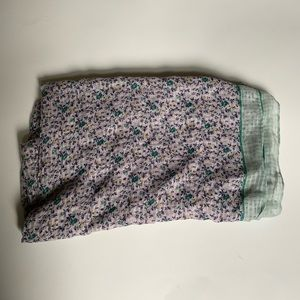 Loft Purple and Green Floral Scarf
